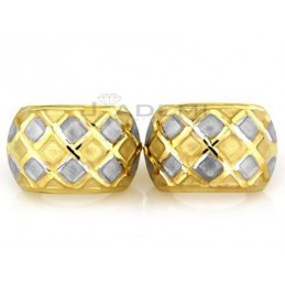 Dwukolorowe złote kolczyki...